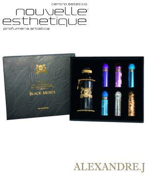 ALEXANDRE J - BLACK MUSCS COFANETTO EDP 100ML + 6X8ML 6659 profumo profumi fragranza uomo donna
