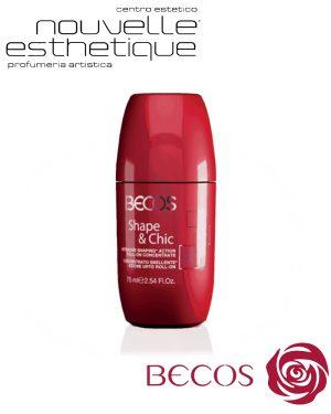 BECOS SHAPE & CHIC CONCENTRATO SNELLENTE AZIONE URTO ROLL-ON 75ML cosmesi trattamento per il viso corpo BV038