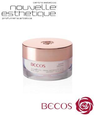 BECOS WHITE PRISMA CREMA UNIFORMANTE SPF30 50 ML cosmesi trattamento per il viso corpo BV042