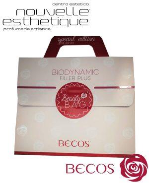 BECOS BEAUTY-BAG BIODYNAMIC FILLER PLUS 2 PRODOTTI VISO CREMA 50ml + CONCENTRATO 20ml cosmesi bellezza regalo borsa trattamento viso BC046