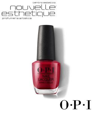 OPI SMALTO UNGHIE NLL72 OPI RED 15ML Centro Estetico make up professionale trucco smalti benessere bellezza cura per il tuo corpo viso manicure pedicure OPI028