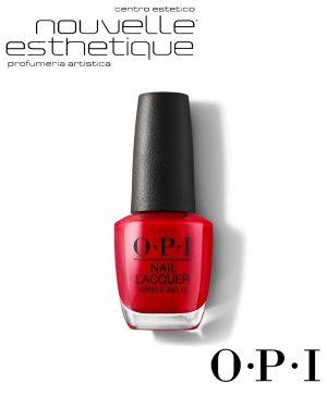 OPI SMALTO UNGHIE NLN25 BIG APPLE RED 15ML Centro Estetico make up professionale trucco smalti benessere bellezza cura per il tuo corpo viso manicure pedicure OPI029